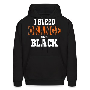 I Bleed Orange and Black Hoodie - Black - Men's Hoodie
