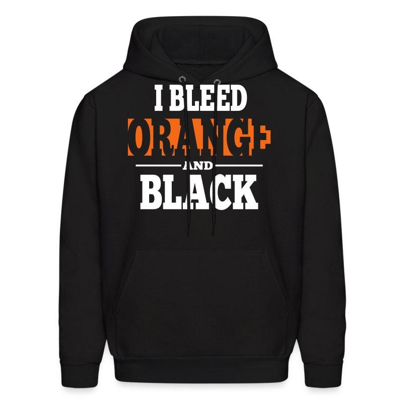 I Bleed Orange and Black Hoodie - Black - Men's Hoodie