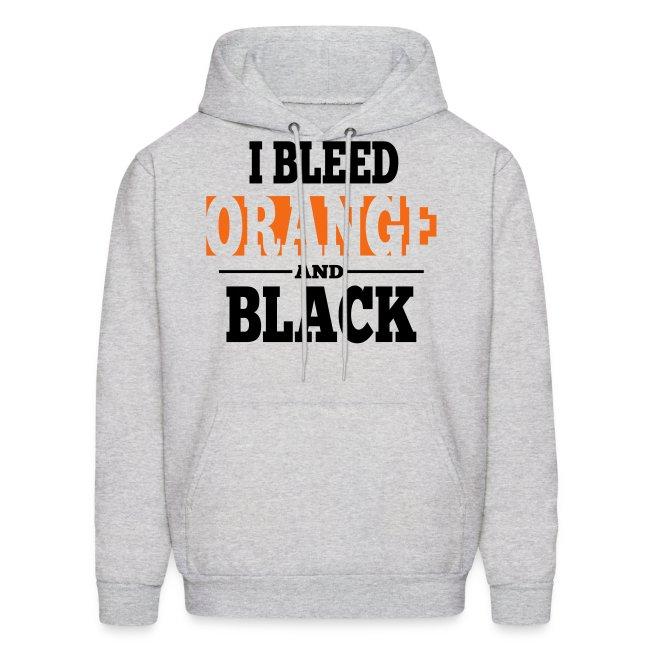 I Bleed Orange and Black Hoodie - Ash Grey