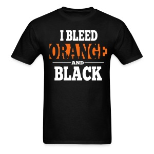 I Bleed Orange and Black Shirt - Black - Men's T-Shirt