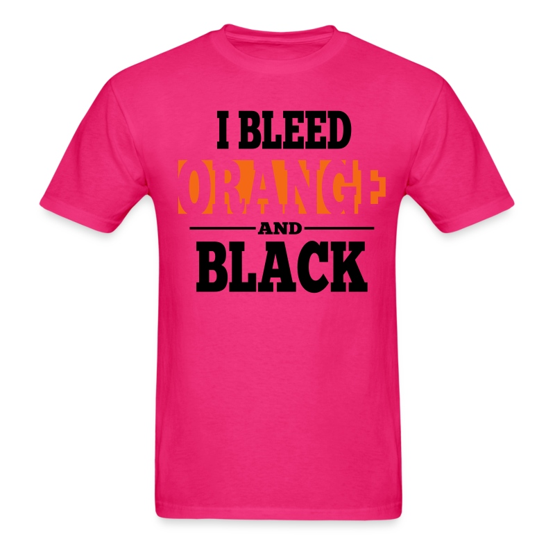 I Bleed Orange and Black Shirt - Ash Grey T-Shirt | Torture Shirts