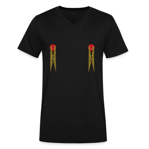 Nipple Pins - Men's V-Neck T-Shirt by Canvas