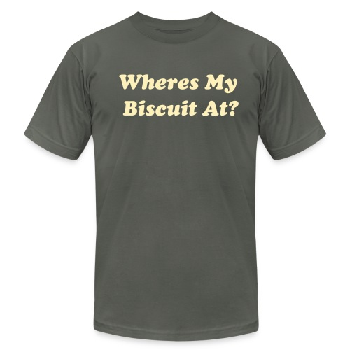 wheres my biscuit - Men's  Jersey T-Shirt