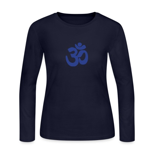 Blue Om - Women's Long Sleeve Jersey T-Shirt