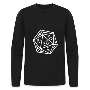 D20 - Black Long Sleeve - Men's Long Sleeve T-Shirt by Next Level