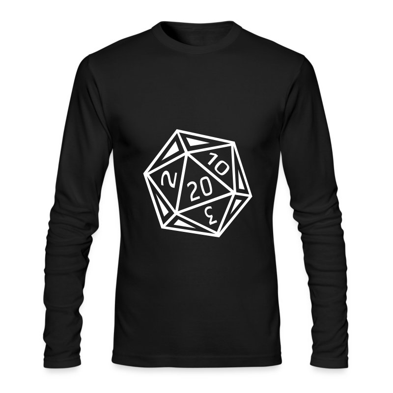 D20 - Black Long Sleeve - Men's Long Sleeve T-Shirt by Next Level