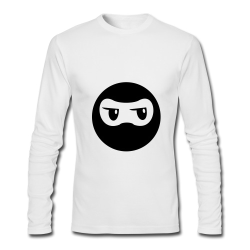 Ninja - White Long Sleeve - Men's Long Sleeve T-Shirt by Next Level
