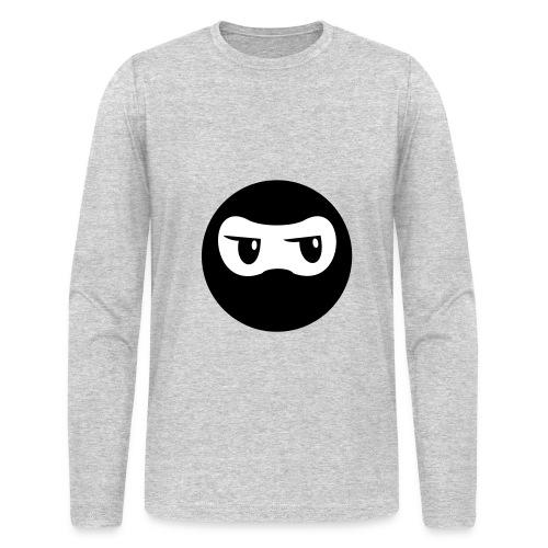 Ninja - White Long Sleeve - Men's Long Sleeve T-Shirt by Next Level