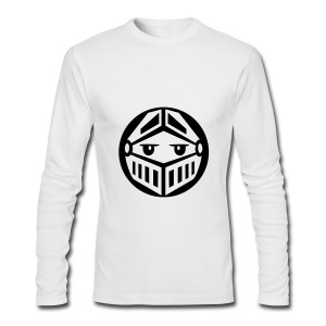 Knight - White Long Sleeve - Men's Long Sleeve T-Shirt by Next Level