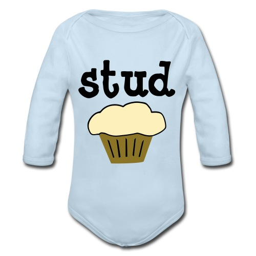 StudMuffin  - Organic Long Sleeve Baby Bodysuit