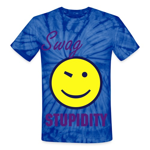 Swag Stupidity Smiley Face Colorful Tee - Unisex Tie Dye T-Shirt