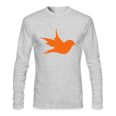 a little bird as a silhouette  Long Sleeve Shirts