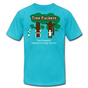 Tree Fuckers - Tree Huggers Satire – Men's T-Shirts - Men's Fine Jersey T-Shirt