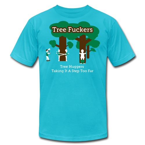 Tree Fuckers - Tree Huggers Satire – Men's T-Shirts - Men's Fine Jersey T-Shirt