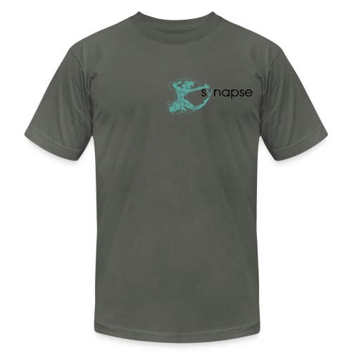 Teal logo Tee - Men's T-Shirt by American Apparel
