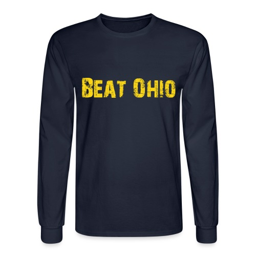 Beat Ohio - Blue - Men's Long Sleeve T-Shirt