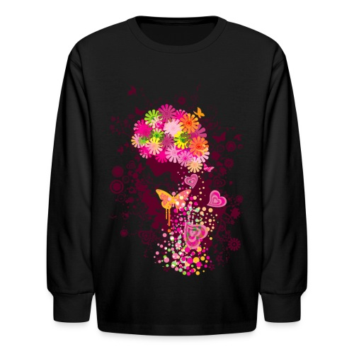 Abstract Afro - Kids' Long Sleeve T-Shirt