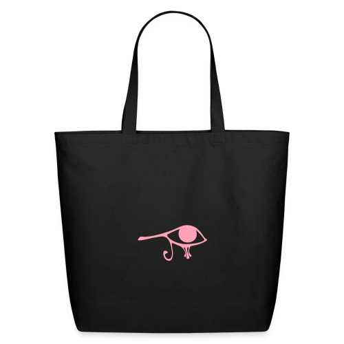 Egyptian Eye of Ra - Eco Friendly Cotton Tote - Black & Pink  - Eco-Friendly Cotton Tote