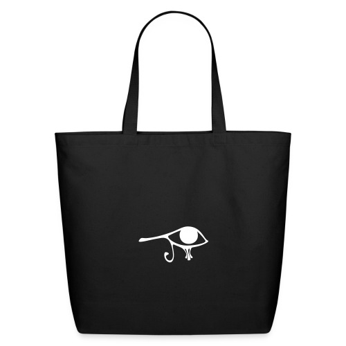 Egyptian Eye of Ra - Eco Friendly Cotton Tote - Black & White - Eco-Friendly Cotton Tote