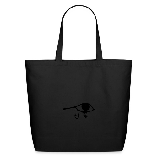 Egyptian Eye of Ra - Eco Friendly Cotton Tote - Creme & Black - Eco-Friendly Cotton Tote