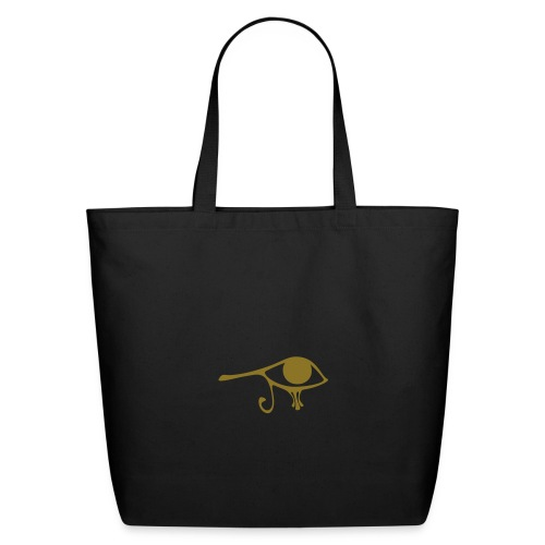 Egyptian Eye of Ra - Eco Friendly Cotton Tote - Creme & Metallic Gold - Eco-Friendly Cotton Tote
