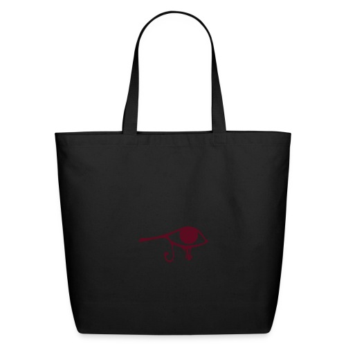 Egyptian Eye of Ra - Eco Friendly Cotton Tote - Creme & Maroon - Eco-Friendly Cotton Tote