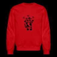 Long Sleeve Shirts ~ Crewneck Sweatshirt ~ La vache est en amour T-shirts (manches longues)