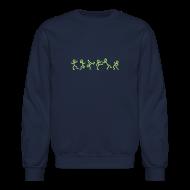 Long Sleeve Shirts ~ Crewneck Sweatshirt ~ Dancing Stickmen T-shirts (manches longues)