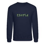 Long Sleeve Shirts ~ Crewneck Sweatshirt ~ Dancing Stickmen T-shirts (manches longues)