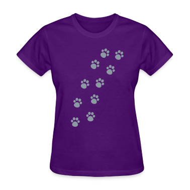 Cat Paw Track Women's T-Shirts