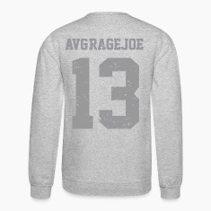 AVERAGE JOE FOOTBALL 2012 -NUMBER 13 BACK - LOGO VINTAGE LOGO SWEATSHIRT