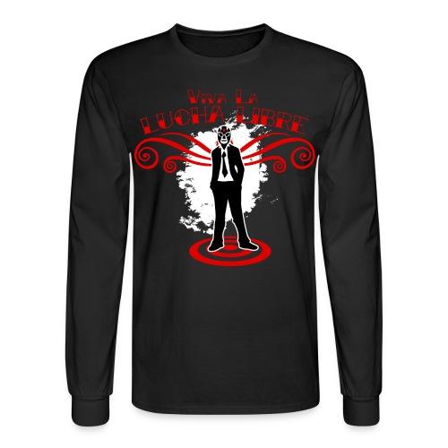 Viva La Lucha Libre (Raglan) - Men's Long Sleeve T-Shirt