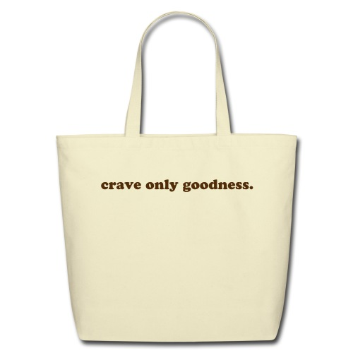 Eco-Friendly Cotton Tote - eco friendly tote that can carry your food and your cravings with you!