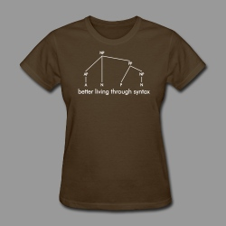 Better Living Through Syntax - Women's T-Shirt