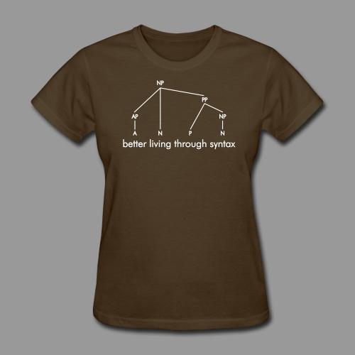 Better Living Through Syntax - Women's T-Shirt