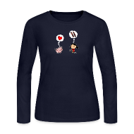 Long Sleeve Shirts ~ Women's Long Sleeve Jersey T-Shirt ~ For the Love of Bacon (Long Sleeve)