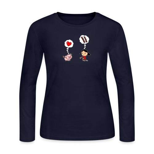 For the Love of Bacon (Long Sleeve) - Women's Long Sleeve Jersey T-Shirt