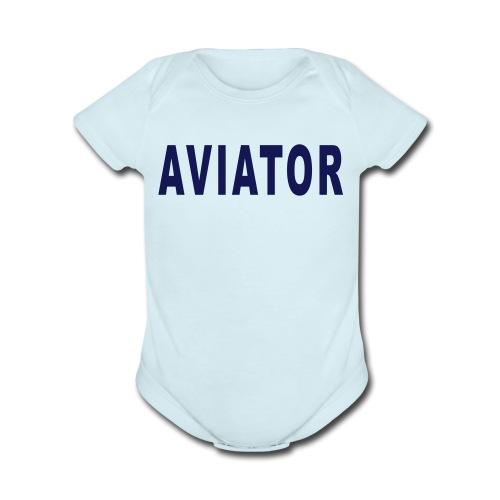 aviator_simple - Short Sleeve Baby Bodysuit