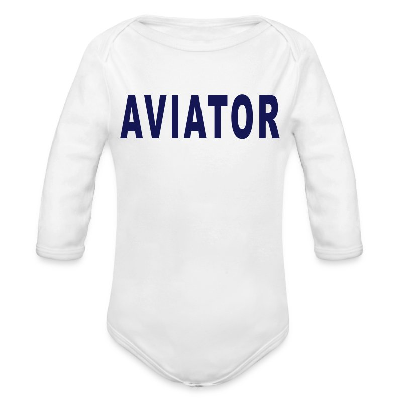 aviator_simple - Long Sleeve Baby Bodysuit