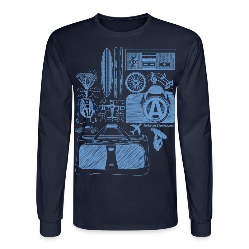 Aviator's World Blue - Men's Long Sleeve T-Shirt