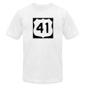 US Rte. 41 LSD - Men's T-Shirt by American Apparel