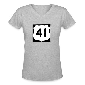 US Rte. 41 LSD - Women's V-Neck T-Shirt