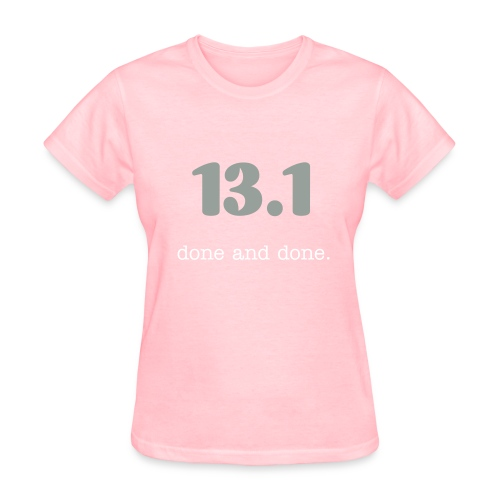 13.1 done and done glitter numbers - Women's T-Shirt