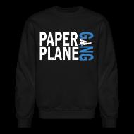Long Sleeve Shirts ~ Crewneck Sweatshirt ~ Paper Plane Gang Blue