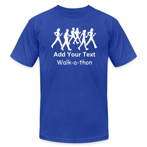 Custom Text Walk-a-thon t shirts - Men's  Jersey T-Shirt