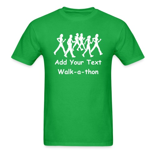 Custom Text Walk-a-thon t shirts - Men's T-Shirt