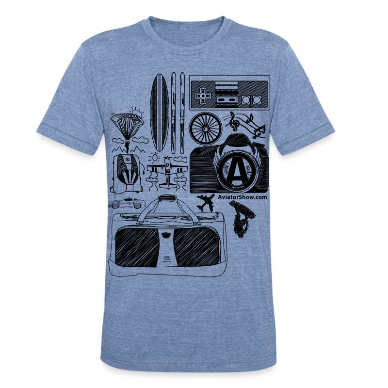 Aviator's World black - Unisex Tri-Blend T-Shirt by American Apparel