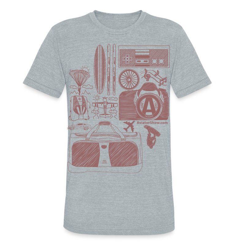 Aviator's World Red - Unisex Tri-Blend T-Shirt by American Apparel