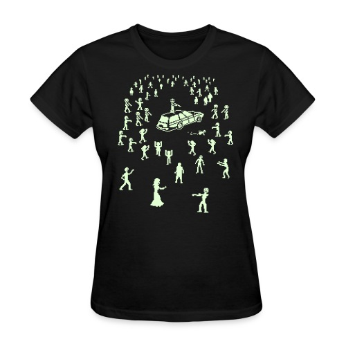 Glow in the Dark Organ Trail Shirt (For the Ladies) - Women's T-Shirt