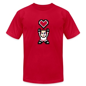 Lappy Heart - Men's T-Shirt by American Apparel